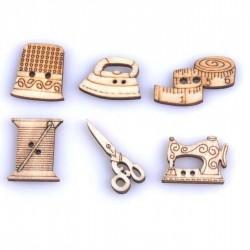 Botones Madera Costura
