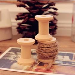 Carrete hilo de madera
