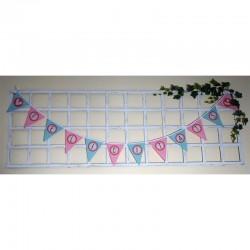 Panel Banderín Cumpleaños Niña