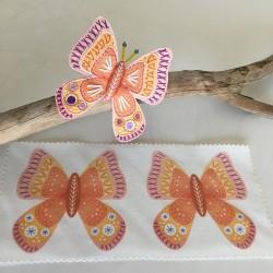 Panel Mariposa 3D Naranja